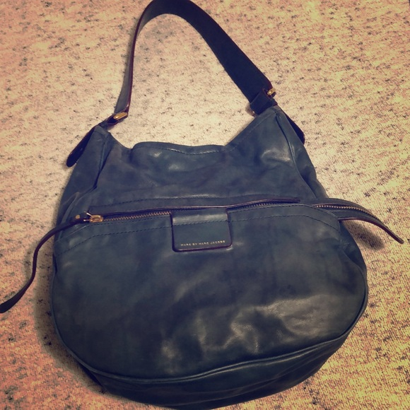 Marc By Marc Jacobs Handbags - Teal leather Marc by Marc Jacobs Moto shoulder bag